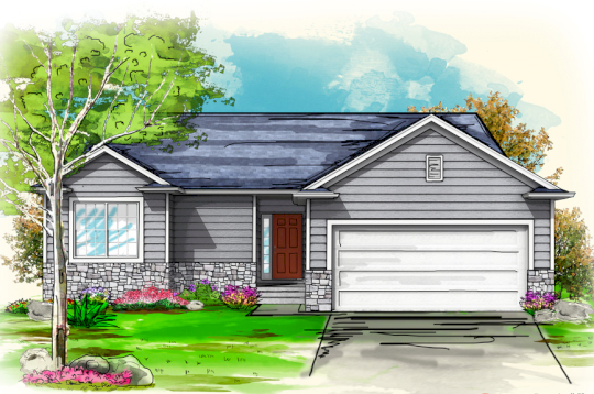 Watercolor Rendered Property for Social Media Marketing